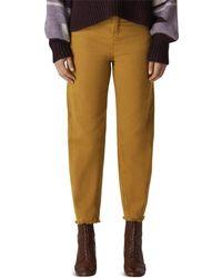 Whistles - High Rise Barrel-leg Jeans In Camel - Lyst