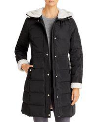 Kate Spade Faux Fur Lined Hooded Parka - Black