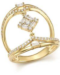 KC Designs - 14k Yellow Gold Mosaic Diamond Statement Ring - Lyst