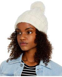 Inverni Invenri Pom - Pom Knit Hat - White