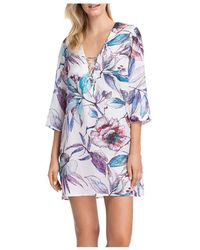 Gottex First Bloom Tunic Swim Cover - Up - Blue