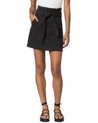 Joe's Jeans The Calypso Paperbag Denim Skirt - Black