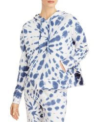Marc New York Tie Dyed Boxy Hoodie - Blue