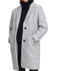 Marc New York Paige Bouclé Coat - Gray