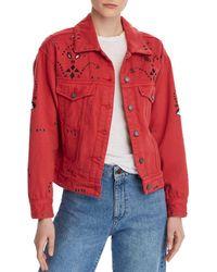 Blank NYC - Bandana Cropped Denim Jacket - Lyst