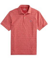 Vineyard Vines St. Jean Stripe Sankaty Regular Fit Polo Shirt - Red