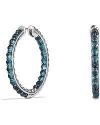 David Yurman - Osetra Hoop Earrings With Hampton Blue Topaz - Lyst