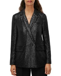 Whistles Sequined Blazer - Black