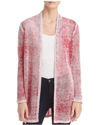 NIC+ZOE - Open-front Mélange Knit Cardigan - Lyst