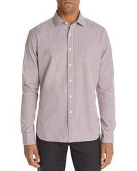 Bloomingdale's Check - Print Classic Fit Shirt - Purple