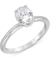 Bloomingdale's Certified Oval Diamond Starbloom? Engagement Ring In 14k White Gold