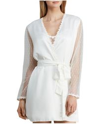 Flora Nikrooz - Showstopper Charmeuse Cover - Up Robe - Lyst
