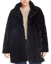 Calvin Klein Faux - Fur Coat - Black