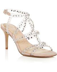 Imagine Vince Camuto Women's Priya Embellished High - Heel Sandals - Natural