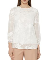 Reiss - Rosie Lace Top - Lyst