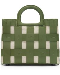 Etienne Aigner Anna Small Cage Satchel - Green