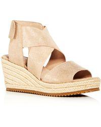 Eileen Fisher - Women's Willow Nubuck Leather Platform Espadrille Sandals - Lyst