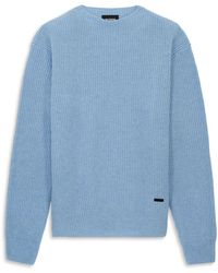 The Kooples Ribbed Pullover Jumper - Blue