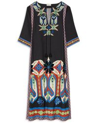 Tory Burch Embroidered Caftan - Multicolor