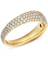 Roberto Coin - 18k Yellow Gold Scalare Pavé Diamond Ring - Lyst