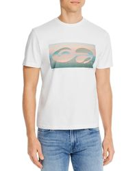 FRAME Abstract Sunset Tee - White