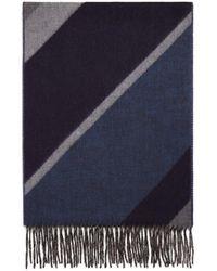 Bloomingdale's Diagonal Striped Scarf - Blue