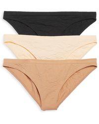 Honeydew Intimates Keagan Jacquard Print Bikini - Black