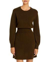 Theory Wool & Cashmere Jumper Dress - Green