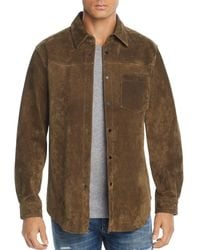 Blank NYC - Suede Regular Fit Shirt - Lyst