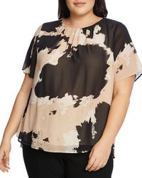 Vince Camuto Signature Abstract Printed Top - Multicolour