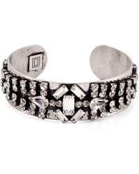DANNIJO - Petunia Baguette & Pave Cuff Bracelet - Lyst