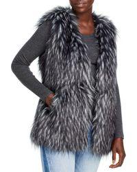 Via Spiga Faux Fur Vest - Black