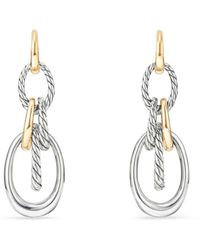 David Yurman - Pure Form Drop Earrings With 18k Gold - Lyst
