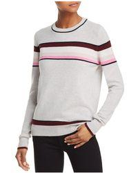Aqua - Striped Cashmere Sweater - Lyst