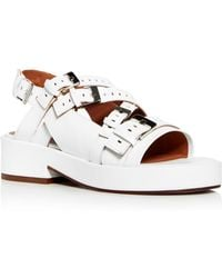 Clergerie - Robert Women's Famy Perforated Leather Platform Sandals - Lyst