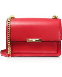 Michael Kors Michael Jade Leather Shoulder Bag - Red