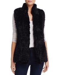 Aqua Faux Fur Vest - Black