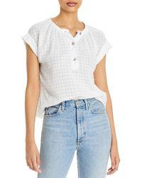 Bella Dahl Cap Sleeve Pullover Top - White