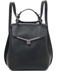 Botkier Valentina Leather Convertible Backpack - Black
