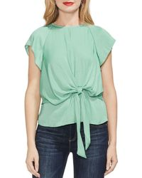 Vince Camuto - Tie Waist Keyhole Top - Lyst