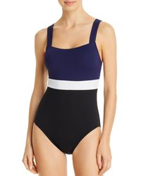 Tommy Bahama Colour - Blocked One Piece Swimsuit - Black