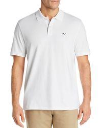 Vineyard Vines Edgartown Piqué Polo Shirt - White