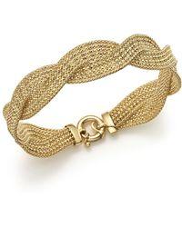 Bloomingdale's 14k Yellow Gold Braided Mesh Bracelet - Metallic
