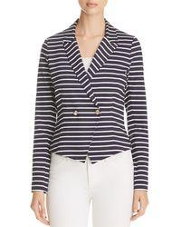 Three Dots - Newport Stripe Blazer - Lyst
