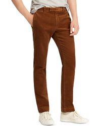 Polo Ralph Lauren - Slim Fit Stretch Corduroy Pants - Lyst