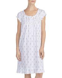 Eileen West - Cap Sleeve Cotton Waltz Short Gown - Lyst