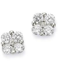 Bloomingdale's Cluster Diamond Stud Earrings In 14k White Gold
