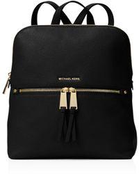 MICHAEL Michael Kors Rhea Medium Slim Backpack - Black