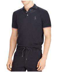 Polo Ralph Lauren | Custom Slim Fit Mesh Short Sleeve Polo Shirt | Lyst