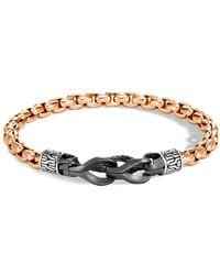 John Hardy Men's Asli Classic Chain Bronze Box-chain Bracelet - Metallic